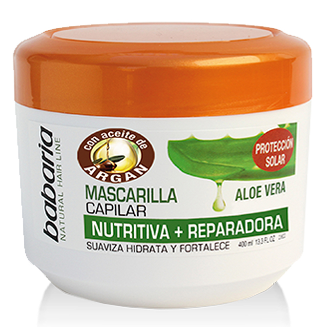 BABARIA HAIR MASK WITH ALOE VERA & ARGAN OILS 400ml